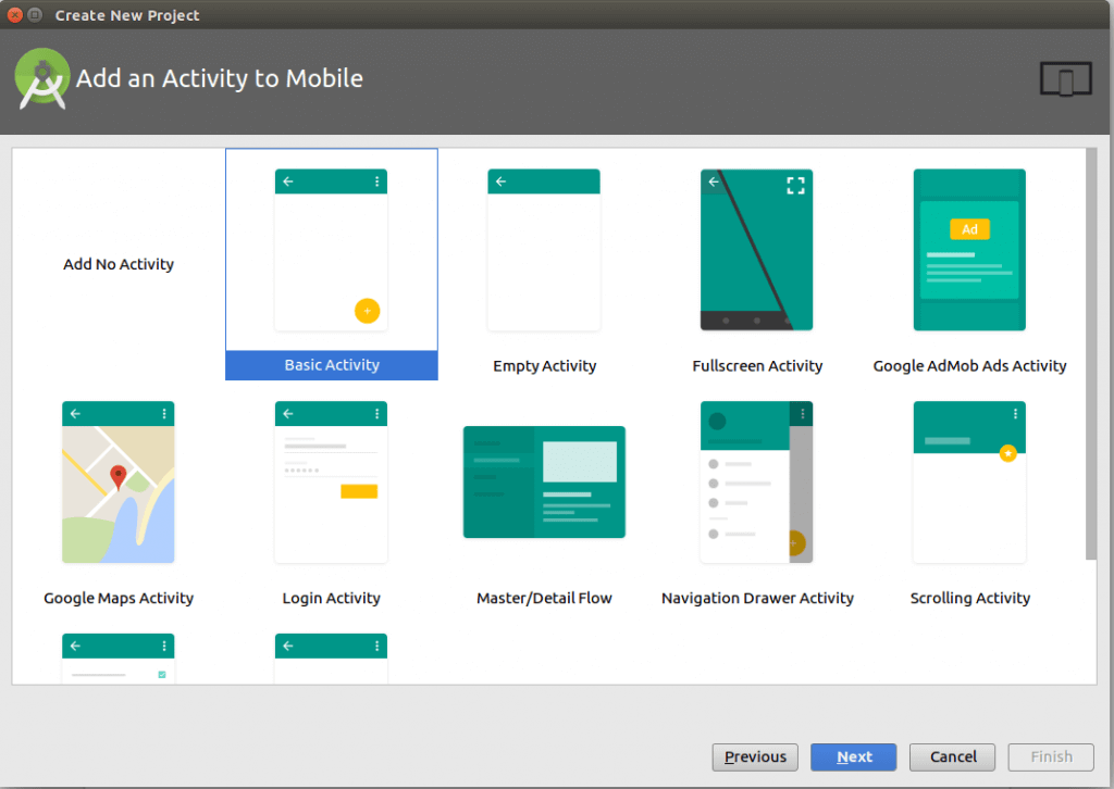 add an activity to your android studio project