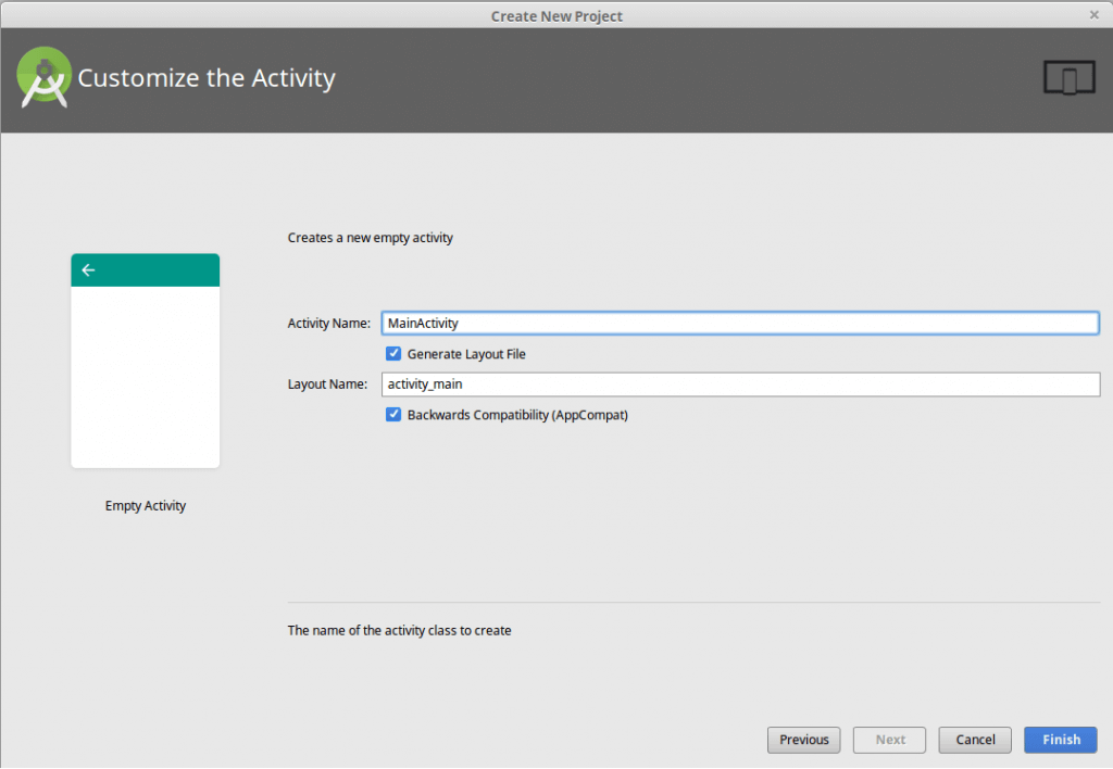 customize the activity