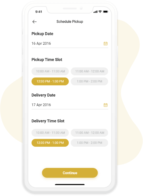 Schedule Pick Up and Delivery