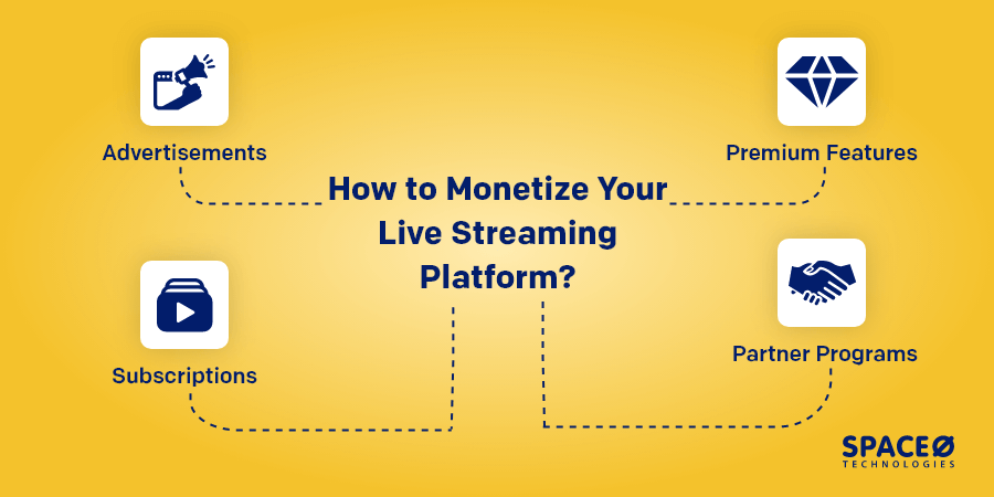 how to monetize your live streaming platform