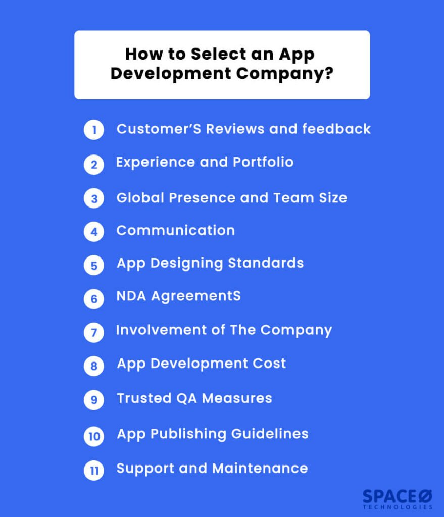 how to select app development company