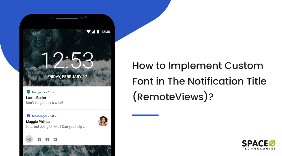 implement custom font in notification