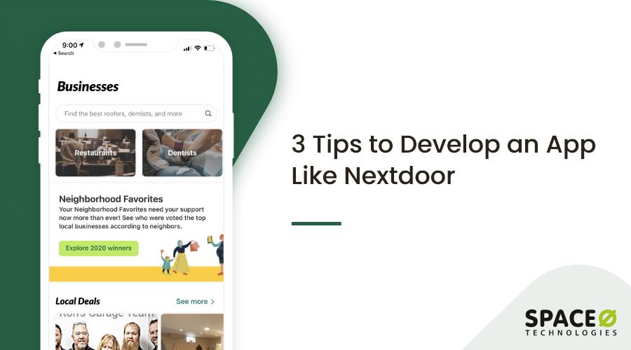 create a community app for neighborhood