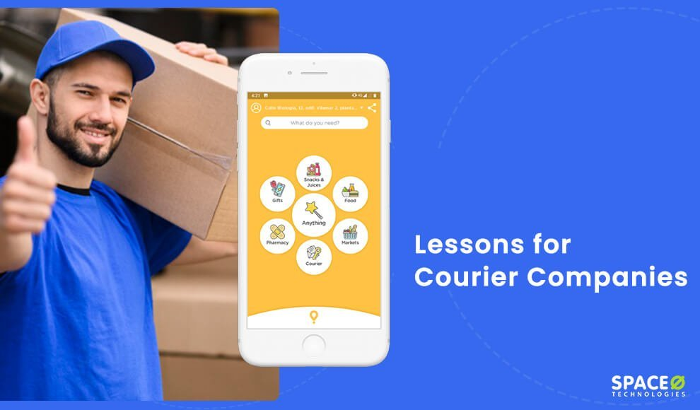 Uber for courier app development