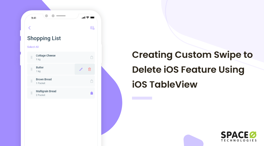 Creating Custom Swipe to Delete iOS Feature Using iOS TableView