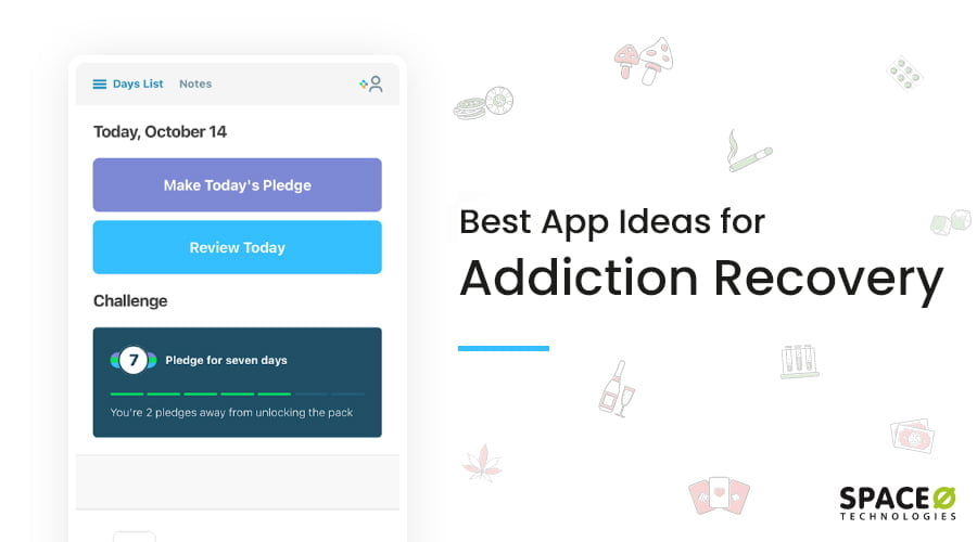 best addiction recovery mobile app ideas
