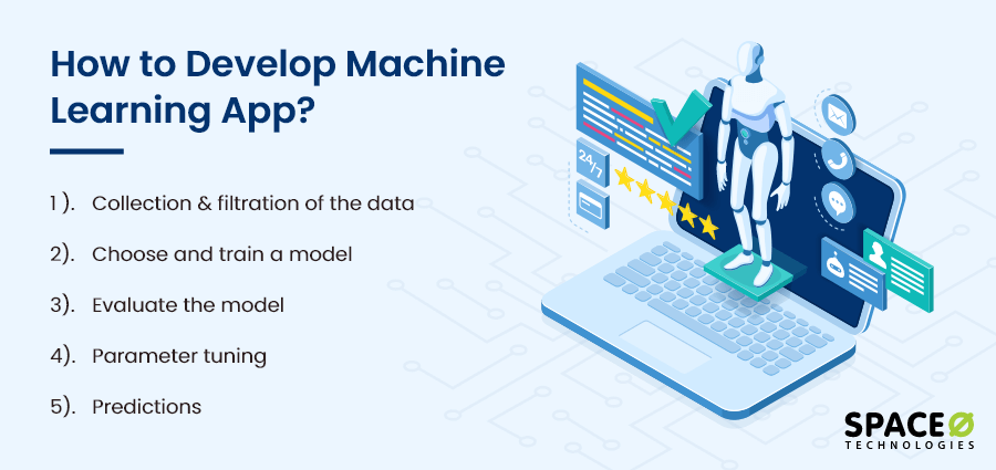 how to develop machine learning app