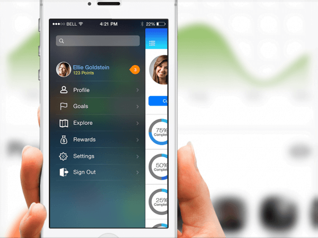 slide out menu navigation