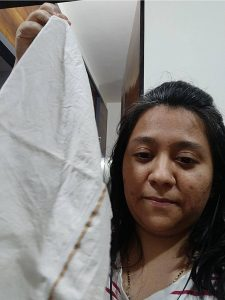 Selfie with a piece of cloth