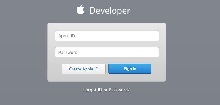 application developer account