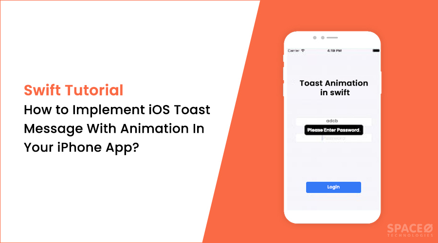 how to implement iOS toast message with animation
