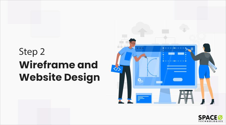 wireframe and website design