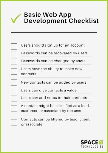 web app development checklist